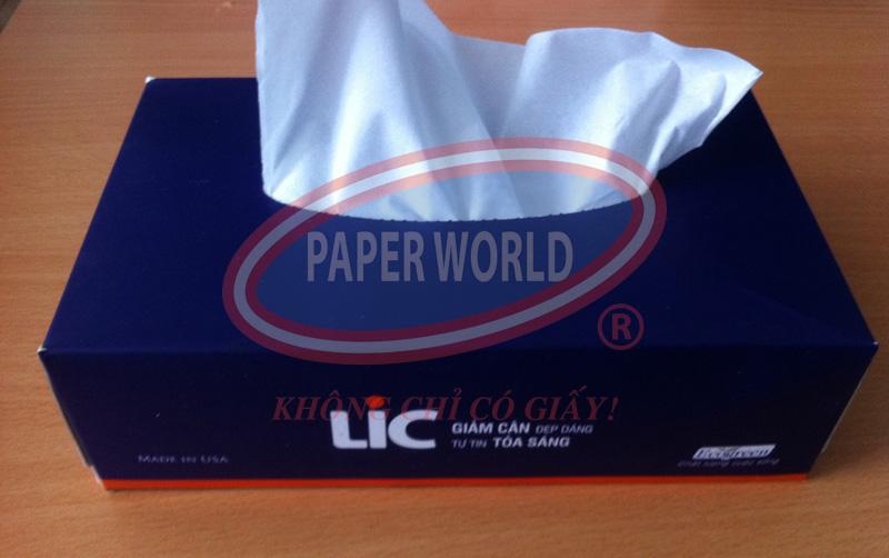 Hộp giấy lụa quảng cáo LIX giảm cân