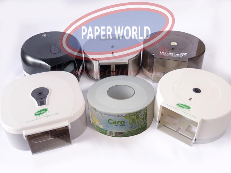 Giấy vệ sinh Caro sử dụng được cho tất cả các hộp đựng giấy cuộn lớn tại thế giới giấy