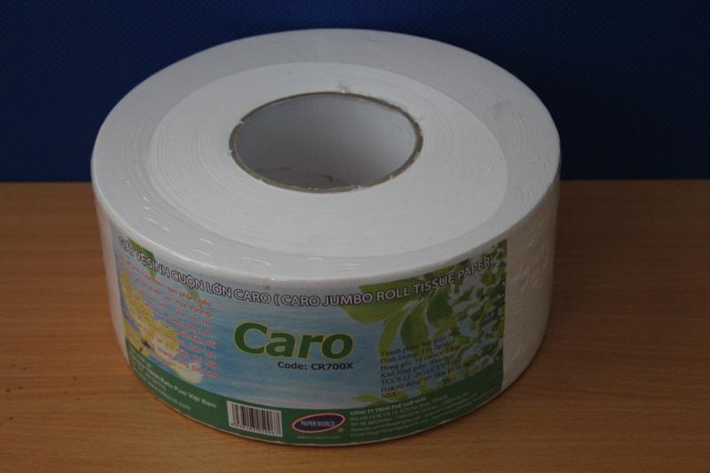Giấy vệ sinh cuộn lớn Caro mẫu mới