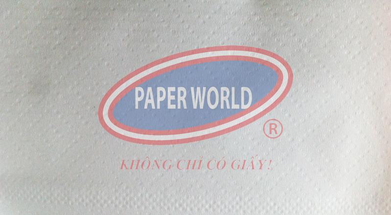 Hoa văn caro trên mặt giấy vệ sinh cuộn lớn