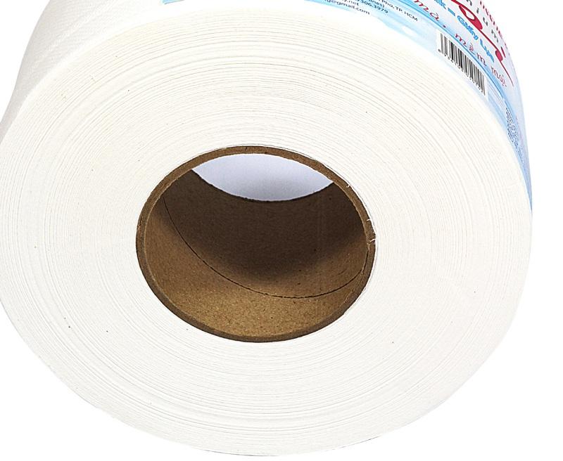 Mặt cắt giấy vệ sinh cuộn lớn pusi700 cao cấp