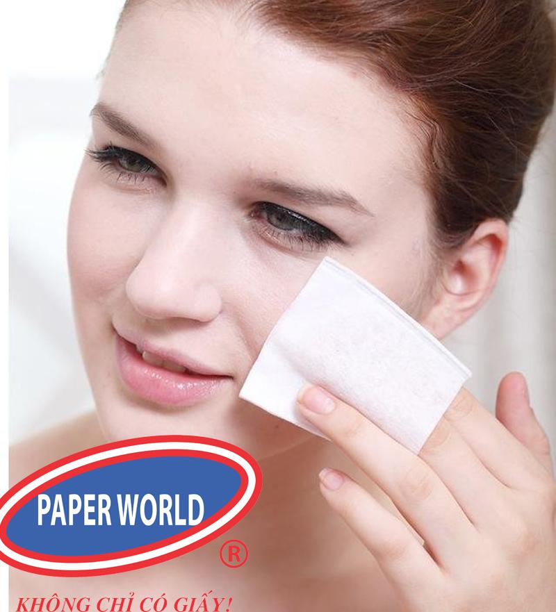 Khăn giấy lau tay Pusi 20 2 lớp sử dụng để lau mặt êm ái