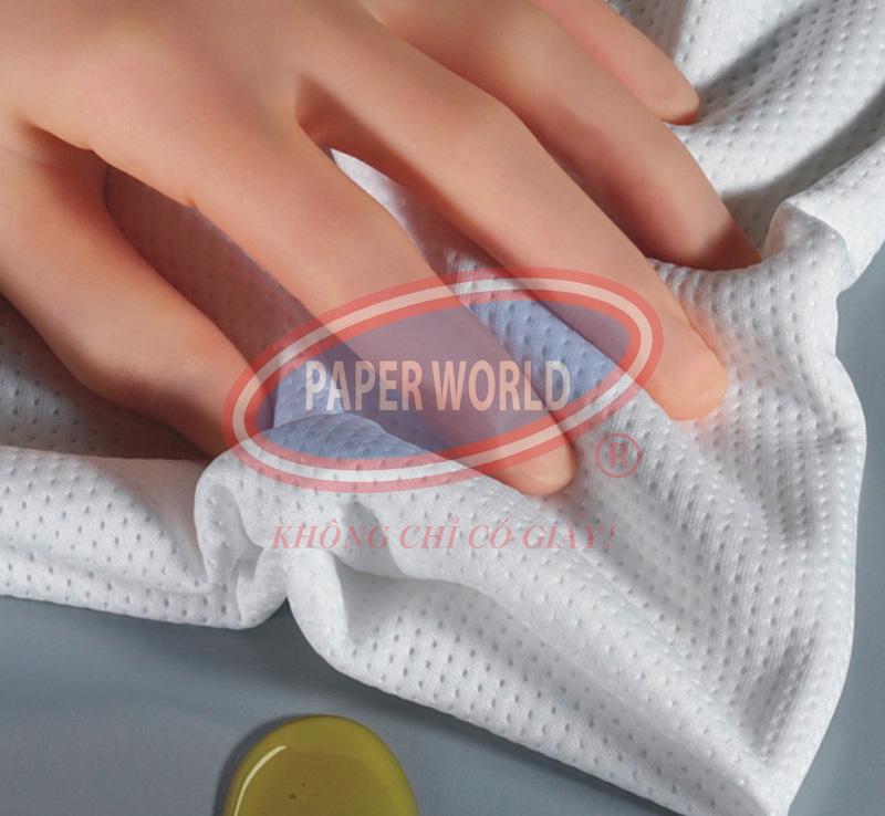 Khăn giấy pusi dùng để lau chùi bàn ghế sach sẽ