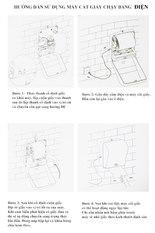 Hướng dẫn sử dụng máy cắt giấy chạy bằng điện hiện đại