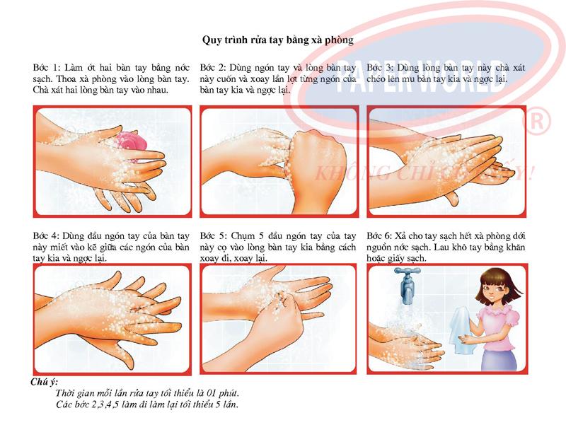 Tuân thủ quy trình rửa tay bằng xà bông rửa tay cho hiệu quả tốt nhất