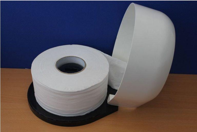 Giấy vệ sinh công nghiệp cuộn lớn, 100% từ bột giấy tự nhiên