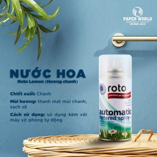Nước hoa xịt phòng RT300 hương Chanh