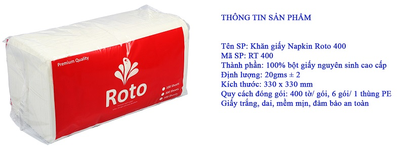 khăn giấy napkin RT400