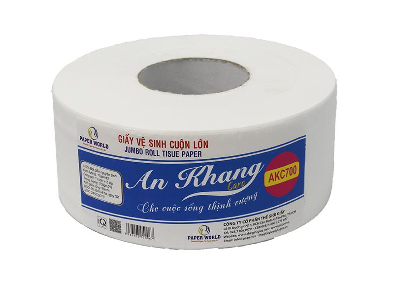 Giấy vệ sinh cuộn lớn cao cấp An Khang Caro700