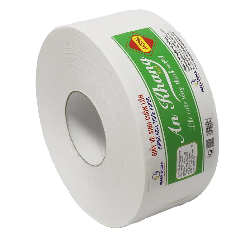 Giấy vệ sinh cuộn lớn An Khang Soft900 - Thế Giới giấy