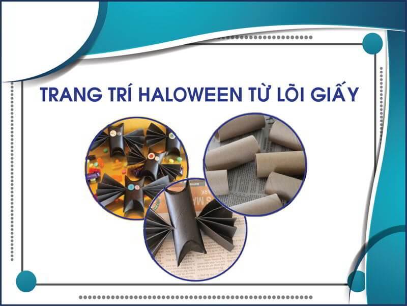 Hướng dẫn trang trí Haloween từ lõi giấy vệ sinh thegioigiay.net