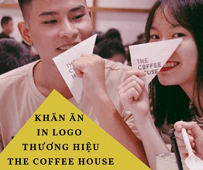 Khăn ăn In logo thương hiệu The Coffee House