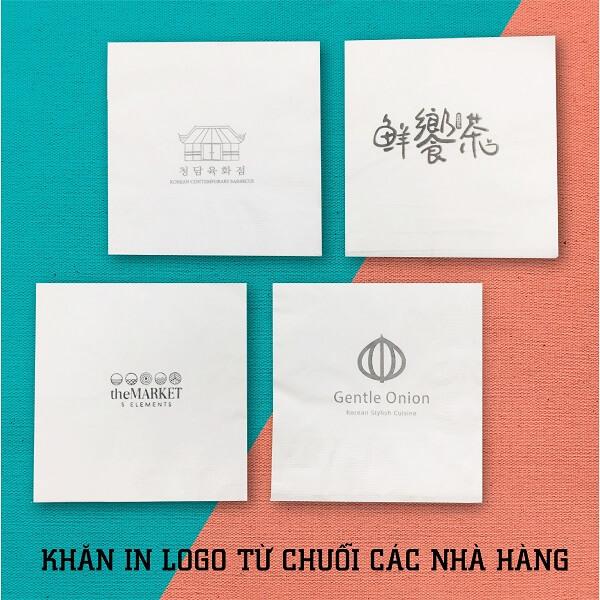 Khăn giấy in logo miễn phí cho nhà hàng