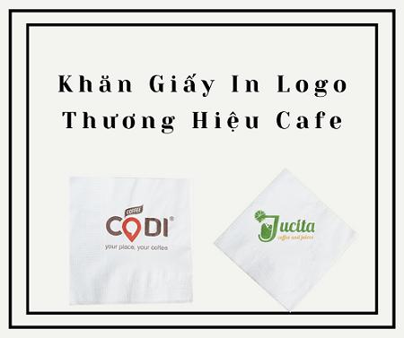 Khăn giấy in logo thương hiệu Cafe