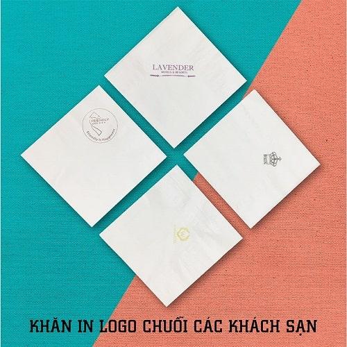 Khăn giấy in logo thương hiệu khách sạn