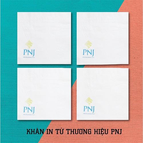 Khăn giấy inlogo thương hiệu PNJ