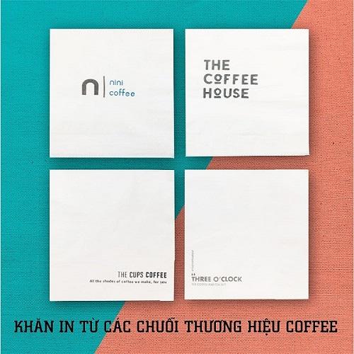 Khăn giấy in logo miễn phí các thương hiệu quán cafe