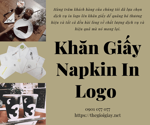 Khăn giấy Napkin in Logo thương hiệu miễn phí 1