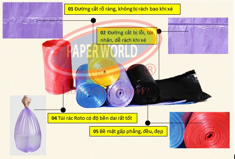 Túi đựng rác size trung với chất liệu cao cấp an toàn với môi trường