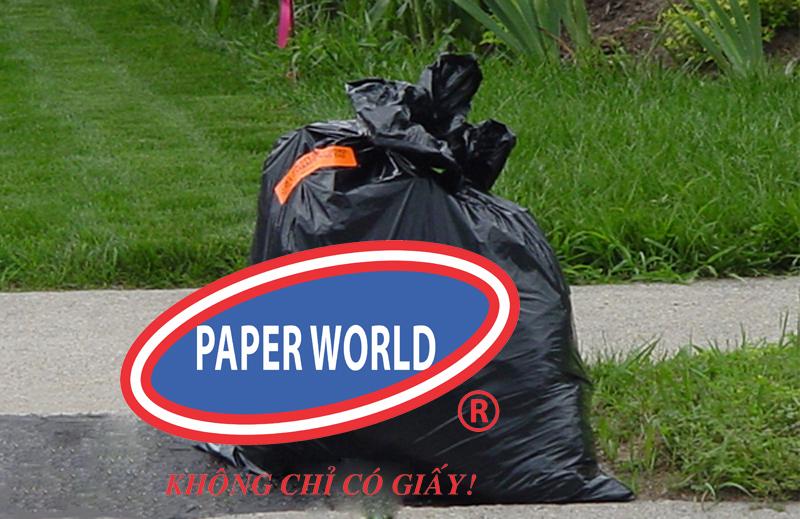 Thu gom rác bằng túi rác roto đen không lõi