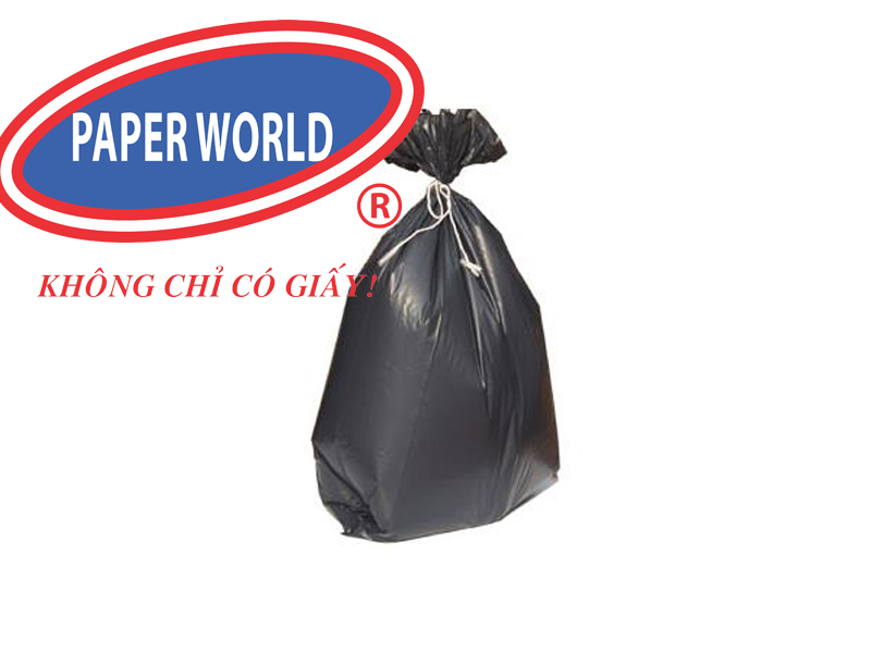 Túi đựng rác đen không lõi với chất liệu cao cấp an toàn với môi trường