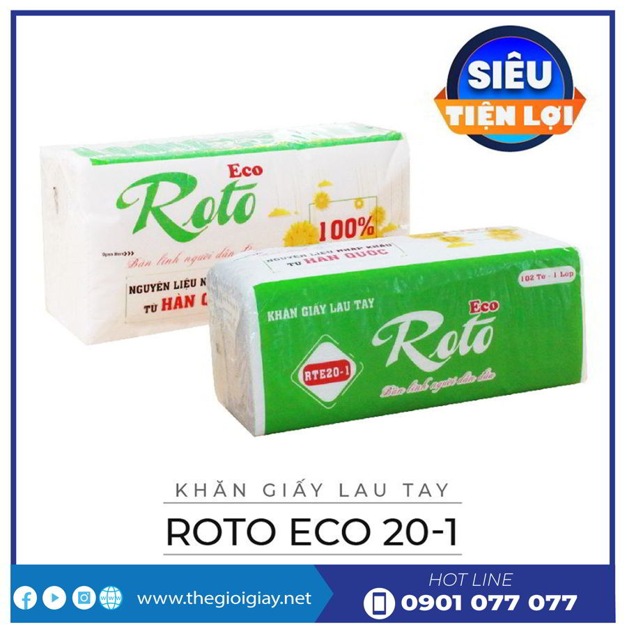 Giấy lau tay roto eco 20-1-thegioigiay.net