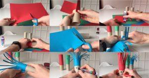 Tạo tóc cho búp bê giấy