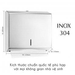 Kích thước của hộp đựng giấy inox RT1220I