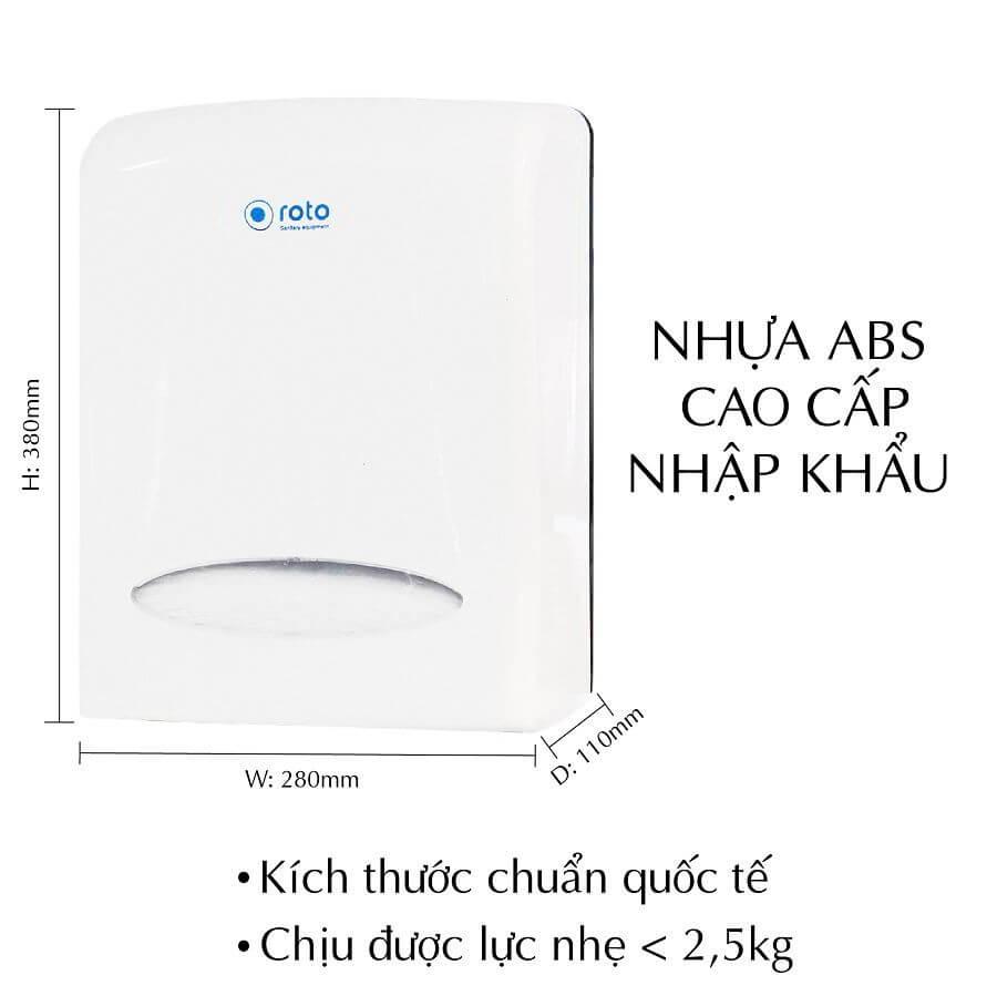 Kích thước của hộp đựng giấy lau tay RT8038A