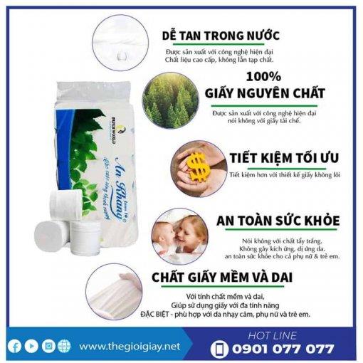Ưu điểm giấy vệ sinh cuộn nhỏ An Khang Inno10-thegioigiay.net