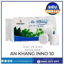Giấy vệ sinh cuộn nhỏ An Khang Inno10-thegioigiay.net