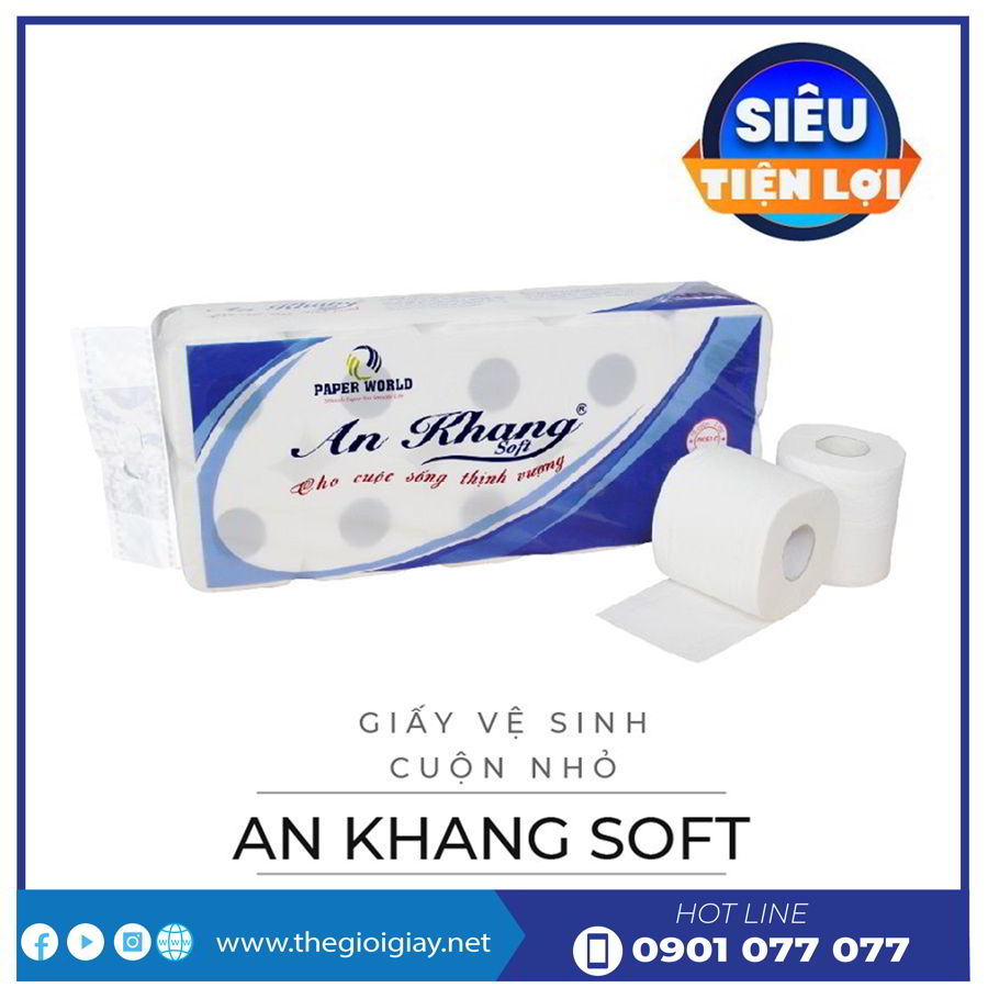 Giấy vệ sinh cuộn nhỏ An Khang Soft10-thegioigiay.net