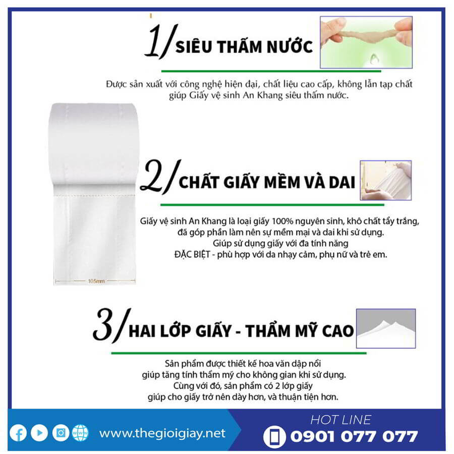 Đặc điểm của giấy vệ sinh cuộn nhỏ AKS10-thegioigiay.net
