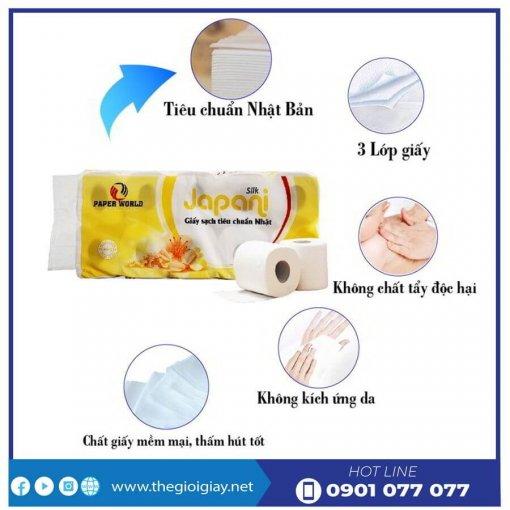Đặc điểm của giấy vệ sinh cuộn nhỏ Japani Soft10-thegioigiay.net
