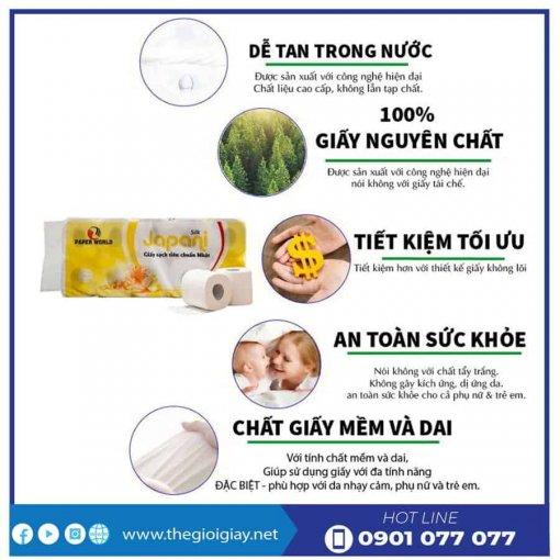 Ưu điểm của giấy vệ sinh cuộn nhỏ Japani soft10-thegioigiay.net