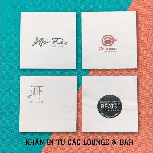 Khăn giấy in logo chuỗi cafe