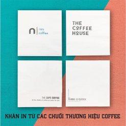 Khăn giấy in logo thương hiệu coffee