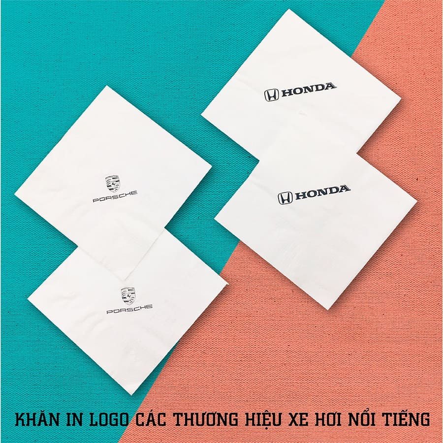 Khăn giấy in logo thương hiệu xe hơi nổi tiếng