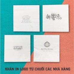 Khăn giấy in logo thương hiệu nhà hàng