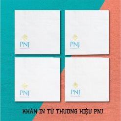 Khăn giấy in logo thương hiệu PNJ