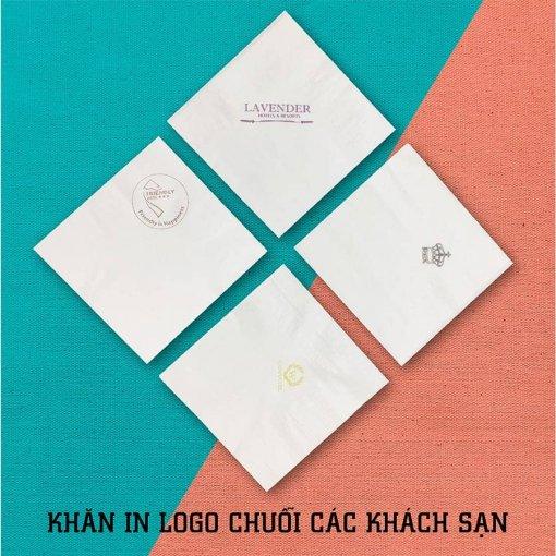 Khăn giấy in logo thương hiệu chuỗi khách sạn