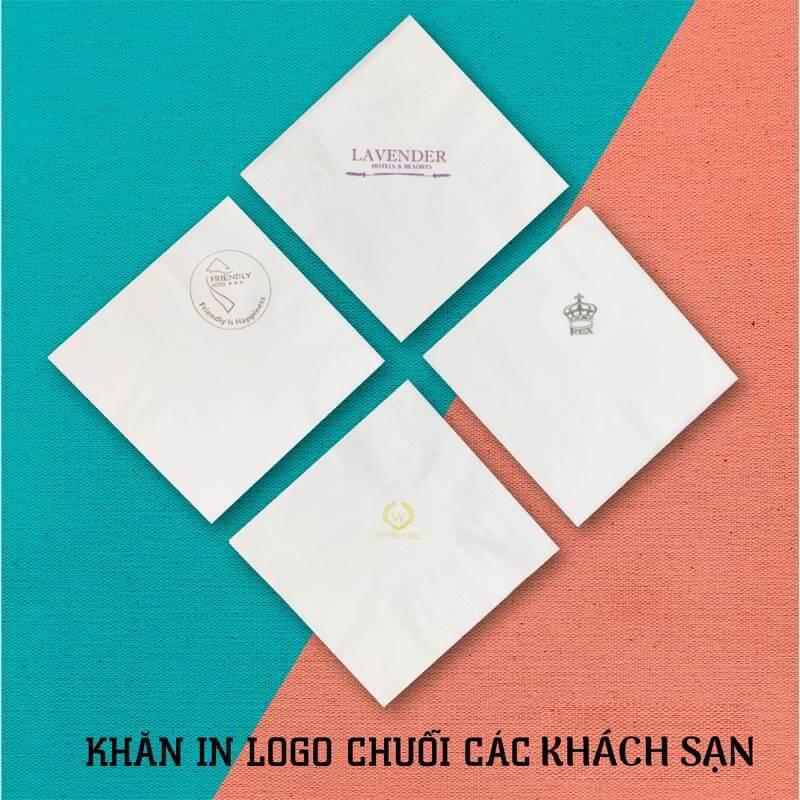 Khăn giấy in logo các thương hiệu khách sạn