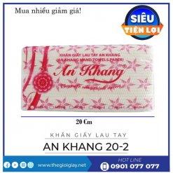 Khăn giấy lau tay An Khang 20-2-thegioigiay.net