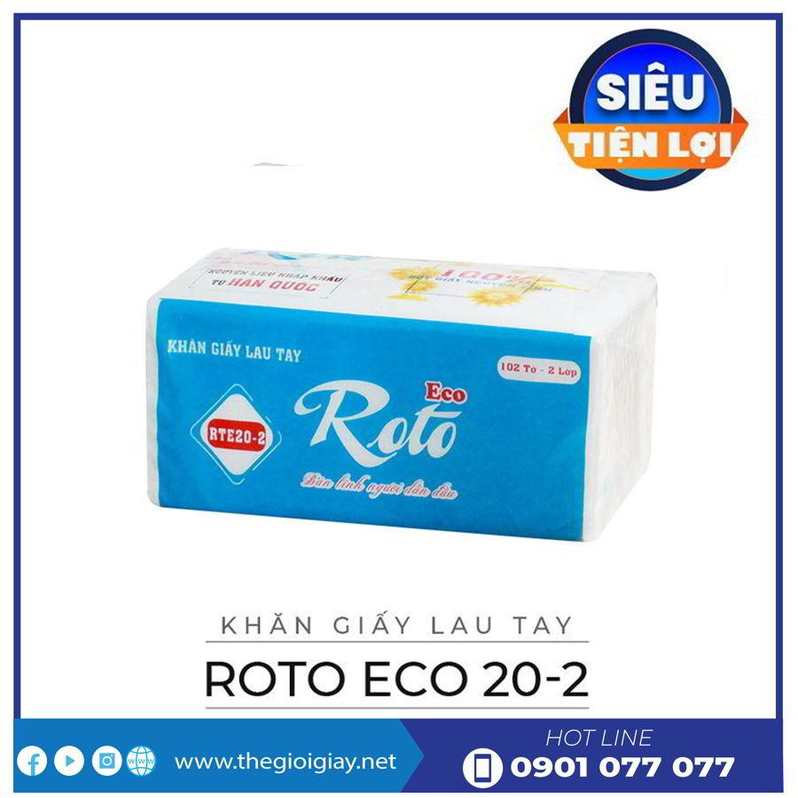 Khăn giấy lau tay roto eco 20-2-thegioigiay.net
