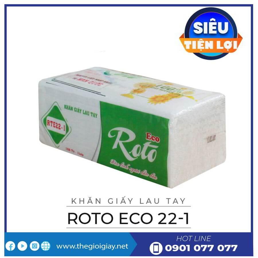 Khăn giấy lau tay roto eco 22-1-thegioigiay.net