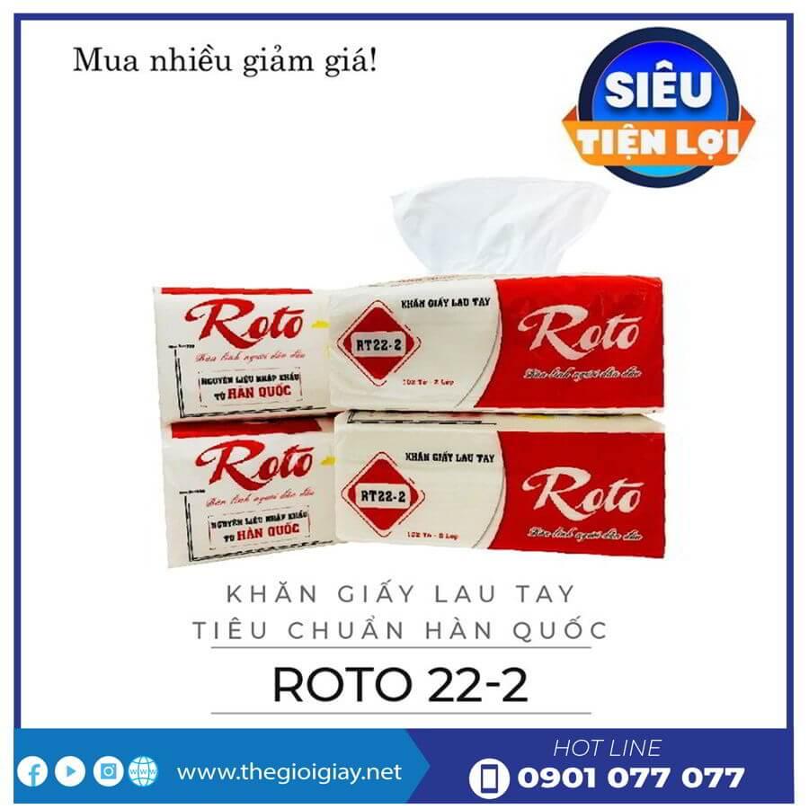 Cung cấp khăn giấy lau tay rt22-2-thegioigiay.net