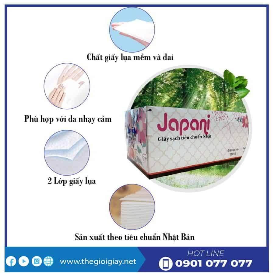 Đặc điểm của khăn giấy lụa hộp cao cấp jps180-thegioigiay.net