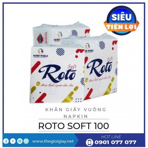 Khăn giấy napkin roto soft100-thegioigiay.net