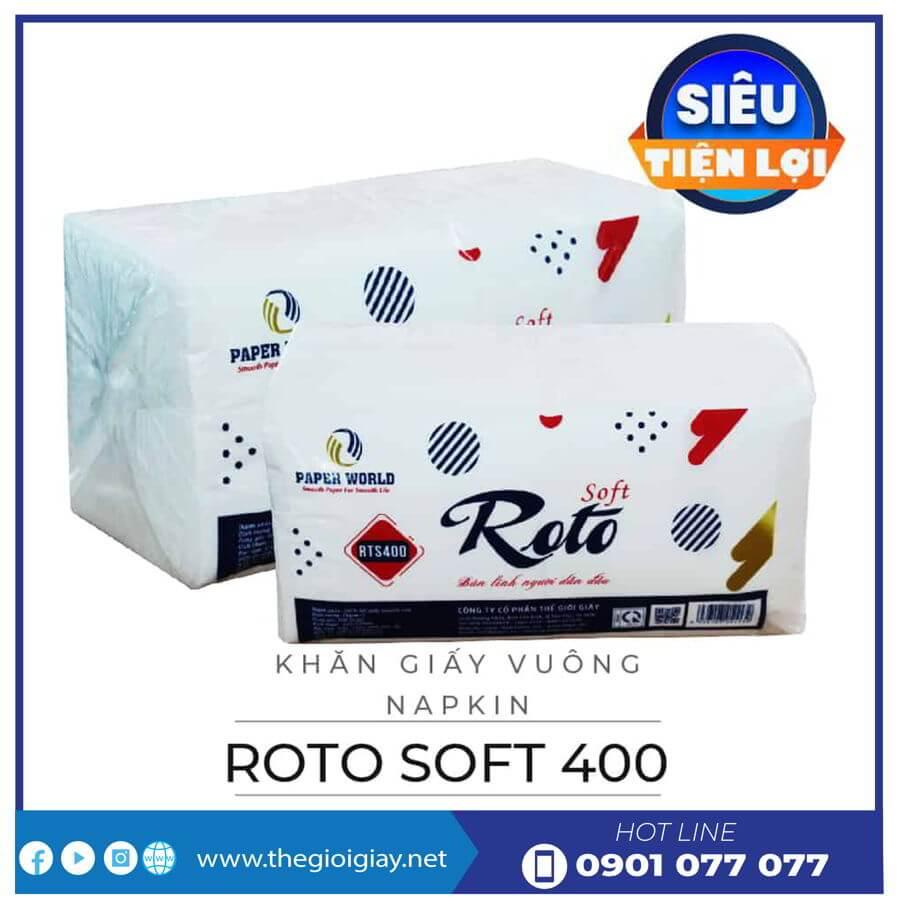 Khăn giấy napkin roto soft400-thegioigay.net