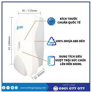 Đặc điểm của bình đựng xà bông roto800 - thegioigiay.net